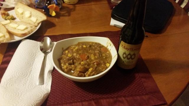 Mayflower Porter Beef Stew After