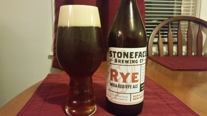 Stoneface India Red Rye Ale