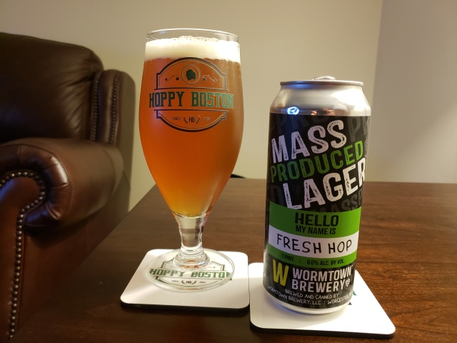 Wormtown Mass Produced Lager Fresh Hop